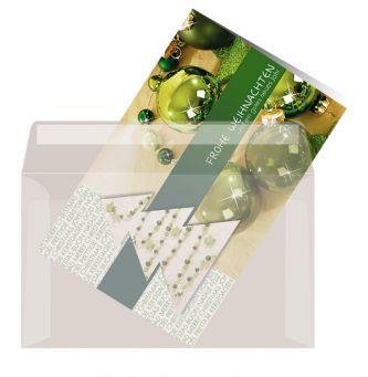 Kartenkuvert, Transparent (selbstklebend)