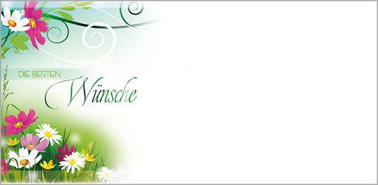Blüten im Gras Kuvert ohne Fenster