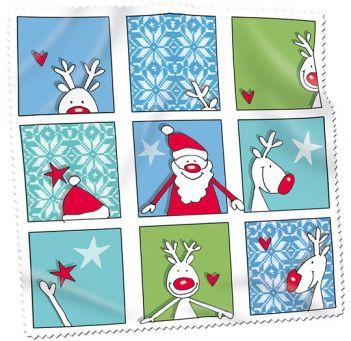 Santa and Friends Microfasertuch