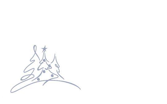 Kartenkuvert, Drei Bäumchen (selbstklebend)
