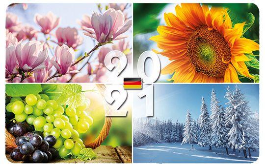 Scheckkarten-Kalender Deutschland, neutral