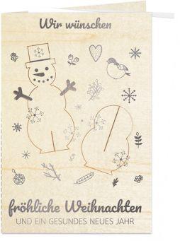 Fröhlicher Schneemann